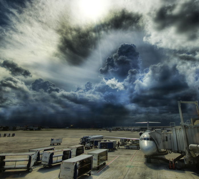 hdr-fotografie am flughafen