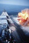 kriegsschiff uss iowa feuert