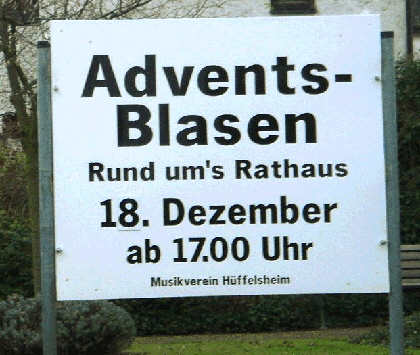 Adventsblasen